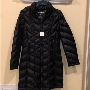 Calvin Klein Packable Puffer Coat Hooded Black XS